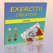 """Carti """"Exercitii creative"""" Colorat"""