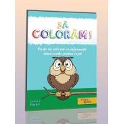 Carte de colorat: Pasari
